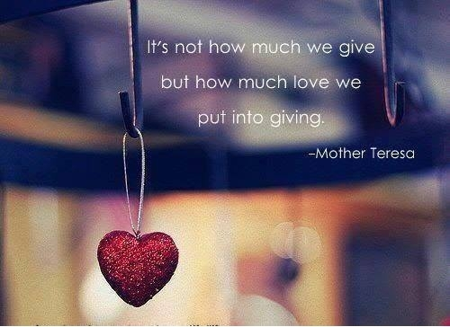 Giving = Receiving